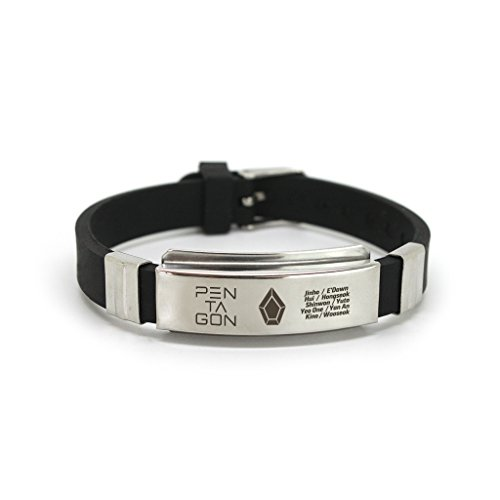 Fanstown Fashion Kpop Titanium Silicon Wristband with lomo cards anti-rust and water prove