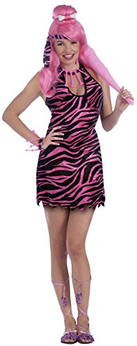 Forum Novelties Women's Prehistoric Princess Costume, Pink/Black, One Size