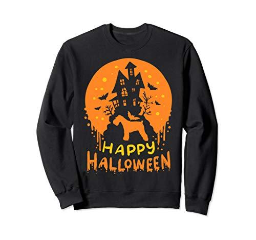 (Miniature Mini Schnauzer Dog Happy Halloween Gift Sweatshirt)