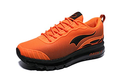 Onemix Jogging Pour Sneakers Lacet Air Orange Chaussures Course Homme Respirante Baskets Gym RRHnrq