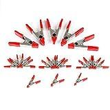 workpro W001401A 20 piezas 3/4 pulgadas (19mm) y 1 pulgada (25mm) Set de pinzas de resorte de acero