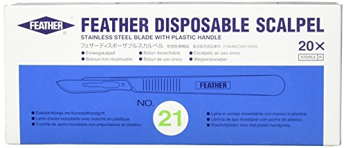 Graham Field 2975-21 Feather Disposable Scalpels, Sterile (Pack of (Feather Sterile Disposable Scalpels)