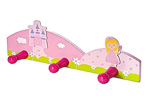 Mousehouse Gifts Pat/ère mural porte manteaux triple mural princesse rose une chambre de petite fille de b/éb/é