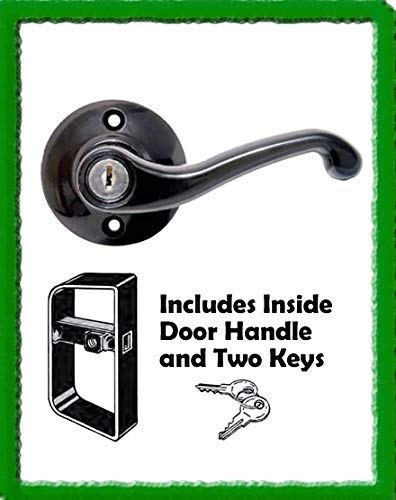 Apple Outdoor Supply HEAVY-DUTY DECORATIVE L-HANDLE SHED DOOR LOCKS