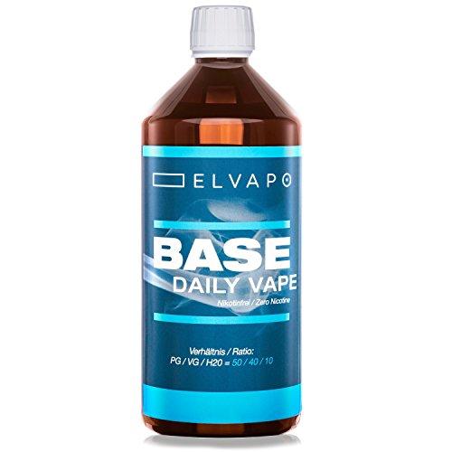 Elvapo BASE – Daily Vape | 1000ml / 1L | 50/40/10 (PG/VG/H2O) | Basisliquid für das Mischen von E-Liquids mit Aromen…