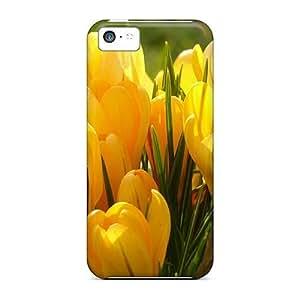 LJF phone case iphone 6 plus 5.5 inch Case Bumper Tpu Skin Cover For Bright Crocus Flowers Accessories