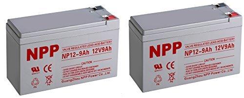 Lead Acid (NPP NP12-9Ah Sealed Lead Acid 12 Volt 9Ah Battery With F2 Style Terminals/(2pcs))