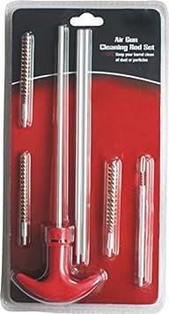 Alas pistola de aire limpieza Rod Set para .177, balines, .25(4.5mm, 5,5mm. 6,35mm) y incluye un jag Stud–para rifles de aire comprimido y pistolas