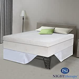 """Night Therapy 13"""" Pillow Top Pressure Relief Memory Foam Mattress & Bed Frame Set - King"""