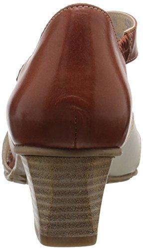 Brown Dress White Women Fidji Sandal V635 xIOqYn7wa