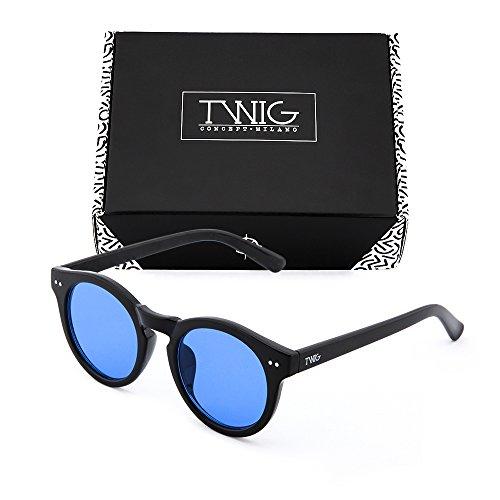 FRIDA mujer sol Gafas espejo de Azul Negro TWIG degradadas O4UnBq