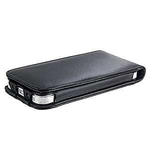 Glossy PVA Leather Flip Case for iPhone 5/5S (Black)