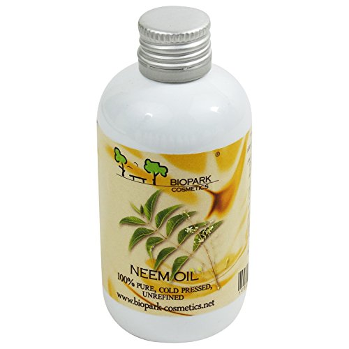 BIOPARK - Neem Oil - Optimal Supply for Problem Skin - Soothes Dry Skin - Promotes Skin Elasticity - Suitable as Facial mask