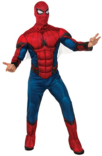 Spider Man Deluxe Mask - Rubie's Costume Co Men's Spider-Man Deluxe Adult Costume, As Shown, X-Large