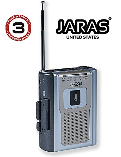 Jaras Limited Edition Portable AM/FM Radio Personal Cassette Player Compact Lightweight Design Stereo AM/FM Radio Cassette Player/Recorder & Built in Speakers (Best Cassette Player Ever Made)