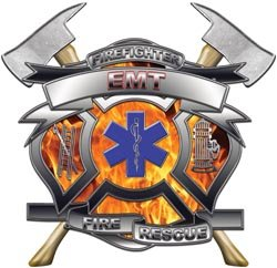 - EMT Firefighter Fire Rescue Decal - 3