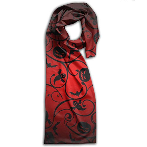 Halloween Pattern Wallpaper Background Long Scarfs Womens Stylish Shawl Wrap Large Blanket For Fall & Winter 11