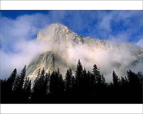 Media Storehouse 10x8 Print of Wispy Clouds Around El Capitan, Yosemite Valley, Yosemite National Park (19032915)