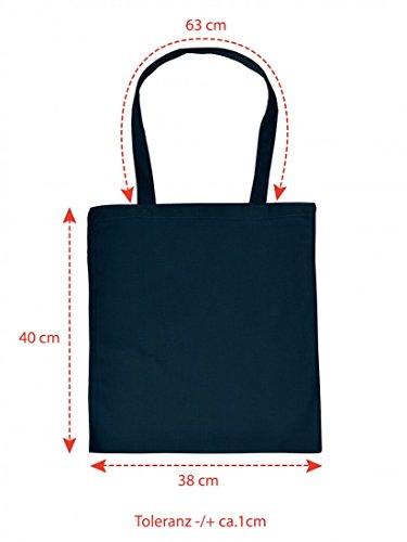 Lustig bedruckte Stofftasche - Ach wie gut, dass niemand weiß... - Sprüche - Tasche Baumwolltasche Beutel Tragetasche