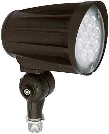 ASD 28W LED Bullet Flood Light 3200lm 5000K Daylight – Replaces 150W MH – IP65 100-277V LED Outdoor Commercial Landscape Light – Exterior LED Flood Light – LED Tree Spotlight, UL DLC Listed, Bronze