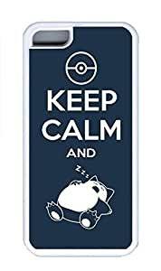 iPhone 5C Case, Personalized Custom Rubber TPU White Case for iphone 5C - Keep Calm And Cover by mcsharks