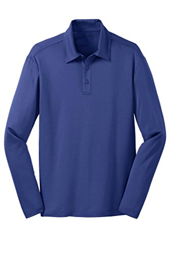 Joe's USA tm Men's Long Sleeve Silk Touch Golf Polo-Royal-3XL