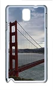Samsung Galaxy Note 3 N9000 Case Golden Gate Bridge 2 PC Hard Plastic Case for Samsung Galaxy Note 3 N9000 Whtie