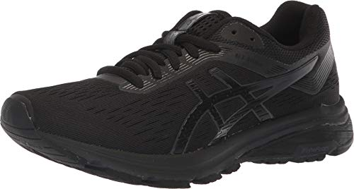 ASICS 1012A030 Women's GT-1000 7 Running Shoe, Black/Phantom, 9 M US