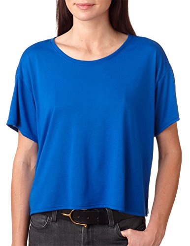 Boxy Fashion (Bella B8881 Canvas Ladies Flowy Boxy Tee - Royal, Medium)