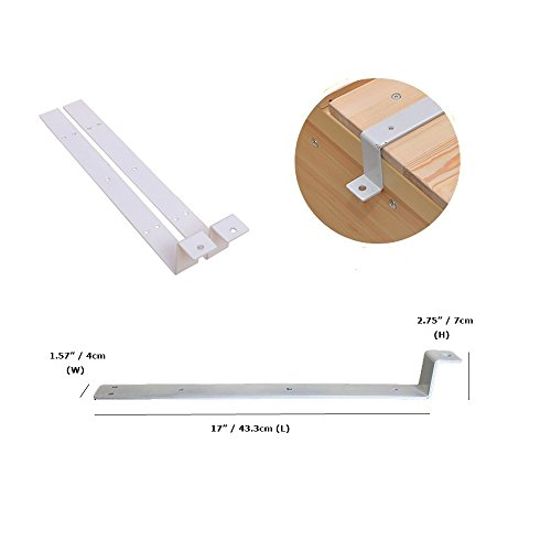 Bed Rail Safety Guard for Elderly, Adults, Toddler & Kids Assist Handle Bed Railing Folding Hospital Metal Bumper Bar (1 Pcs, Wooden Grain) by MYBOW (Image #4)