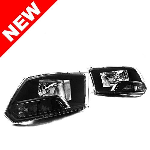 PREMIUM Quality 2009-2016 Dodge Ram 1500/2500/3500 Black Headlights Headlamps (Sb 2014)