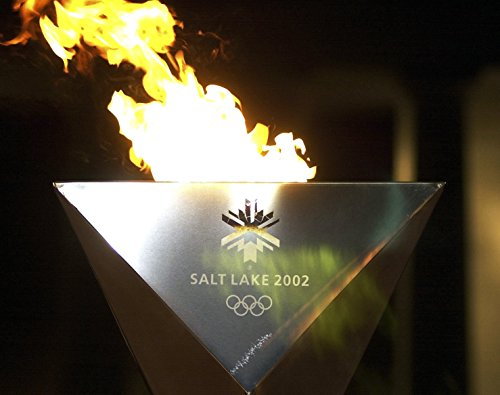 A view of the 2002 Winter Olympic Games cauldron burning at the base of the Lincoln Memorial in - Games 2002 Winter Olympic