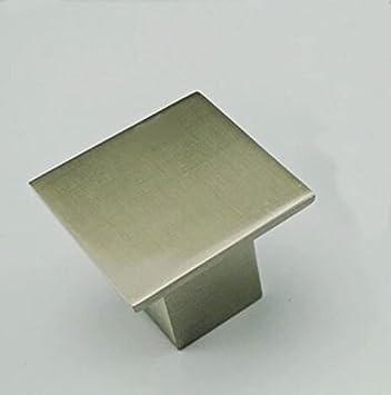 Amazon.com: Cuadrado de acero inoxidable cepillado tiradores ...