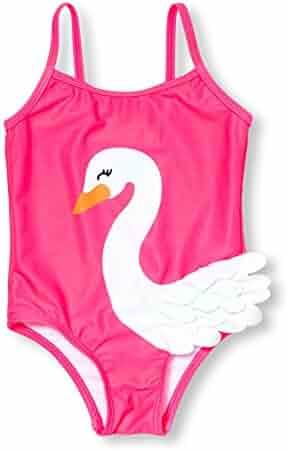 The Children's Place Girls' 3d Swan 1 Piece Swim Suit