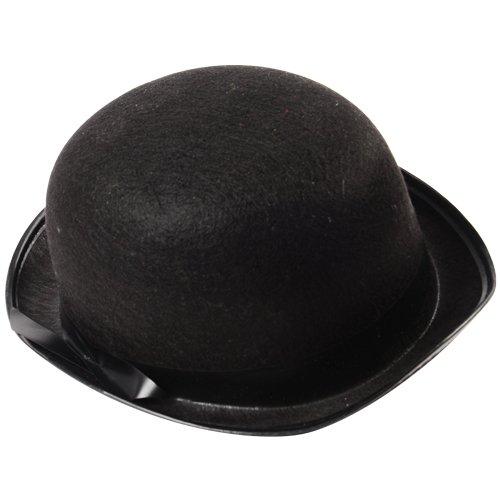 US Toy Black Derby Hat (Black Felt Bowler Hat)