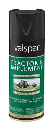 Valspar 5339-19 Low Gloss Black Tractor and Implement Spray Paint - 12 oz. by Valspar