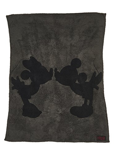 Barefoot Dreams CozyChic Classic Mickey and Minnie Mouse Throw Disney Series Carbon/Black]()