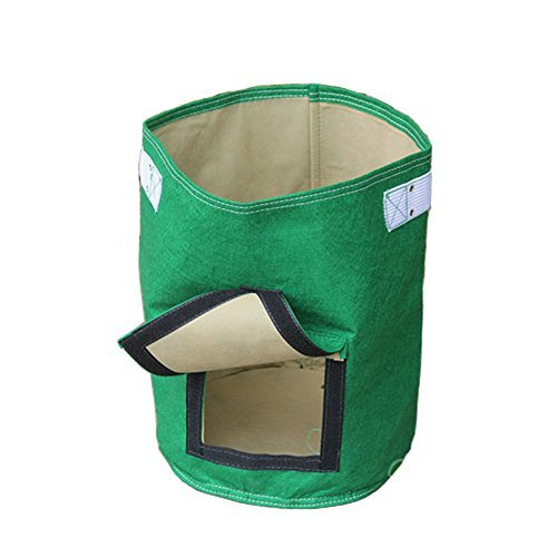 Amgate Non-Woven Garden Potato Grow Bag Daul Layer Vegetables Planter Tub with Access Flap for Harvesting