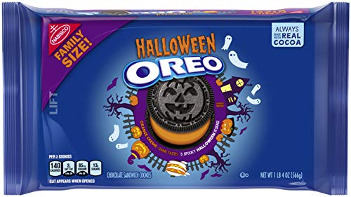 Oreo Seasonal Halloween Cookies, Family Size, 20 Ounce (Pack of 12)