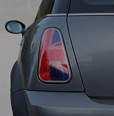 Calcomanía de vinilo para Mini Cooper R56, luz trasera, color rojo y azul