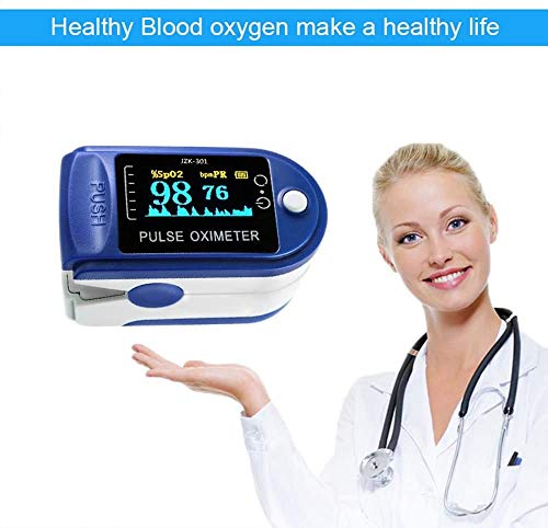 Decdeal OLED Display Fingertip Oximeter B-lood Oxygen Pulse Rate Monitor Portable Family Travel Oximeter