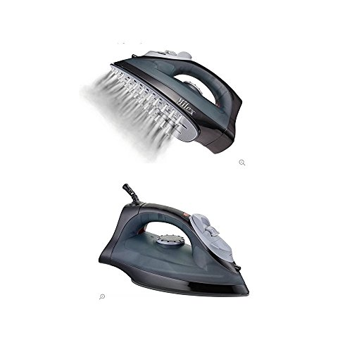 Caldor Milex Teflon Sole-Plated Black Steam Iron. by Caldor® Sports