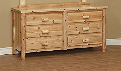 White Cedar Rustic 6 Drawer Dresser *6 stain options*