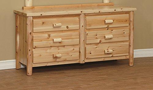 - Furniture Barn USA White Cedar Classic 6 Drawer Dressers-2