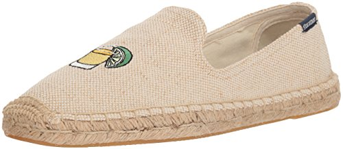 Soludos Men's Beer&Shot Smoking Slipper, Cream, 9.5 Regular US
