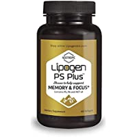 Lipogen Memory & Focus Brain Booster Supplement - Pills to Enhance Cognitive Function for Women & Men. Clinically Proven Formula. (60 Softgels).