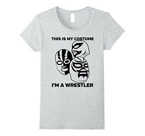 Womens Wrestler Halloween Costume Tshirt - Men Women Youth Sizes Large Heather Grey - Female Wrestler Costumes