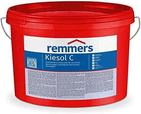 Remmers Kiesol C Basic L/ösemittelfreie Silancreme Horizontalsperren gegen Mauerwerksfeuchtigkeit 5 l