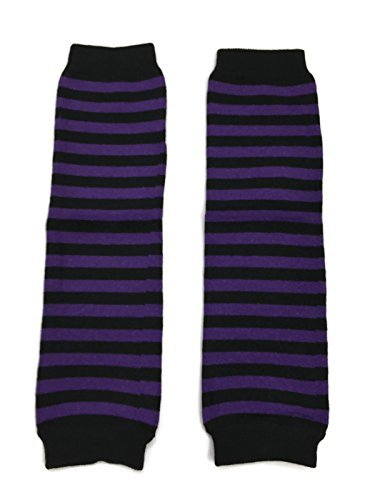 Rush Dance Halloween Parties/ Parades Boys or Girls Baby/ Toddler Leg Warmers (One Size, Purple & Black Stripes) (Halloween Leg Warmers Toddler)