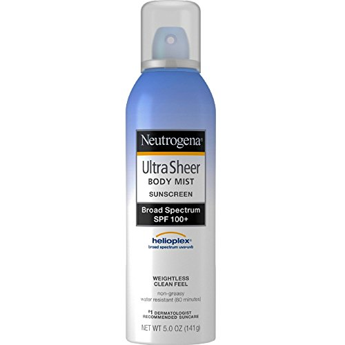 Neutrogena, Ultra Sheer Sunblock Body Mist Spray, SPF 100+,